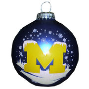 RFSJ University of Michigan Snowy M Ornament