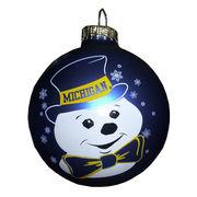 RFSJ University of Michigan Bowtie Snowman Bulb Ornament
