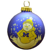 RFSJ University of Michigan Snowman in Hoodie Ornament