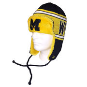 New Era University of Michigan College Wordmark Knit Trapper Hat