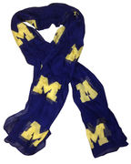 Emerson Street University of Michigan Ladies Fashion Scattered M Scarf