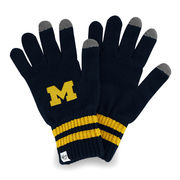 '47 Brand University of Michigan Player Technology Touch Knit Gloves