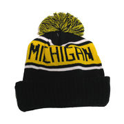 LogoFit University of Michigan Highlands Pom Pom Cuffed Knit Hat