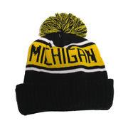 LogoFit University of Michigan Highlands Pom Pom Cuffed Knit Hat