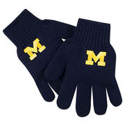 LogoFit University of Michigan Youth Navy Tailgate Gloves