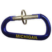 Spirit Products University of Michigan Navy Carabiner Keychain