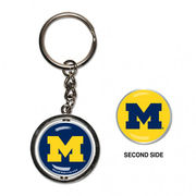 WinCraft University of Michigan Spinner Keychain