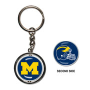 WinCraft University of Michigan Football Spinner Keychain