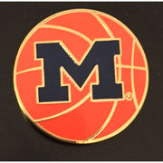 WinCraft University of Michigan Basketball M Lapel Pin