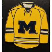 WinCraft University of Michigan Hockey Yellow Jersey Lapel Pin