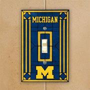 Art Glass University of Michigan Light Switch Cover