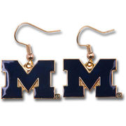 Block M Dangle Michigan Earrings