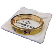 Emerson Street University of Michigan Yellow Bangle