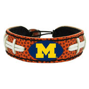 Game Wear University of Michigan Football Leather Bracelet
