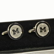 CSI University of Michigan Silver Block M Cuff Links