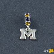 Dayna U University of Michigan Sterling Silver Spirit Charm Bead