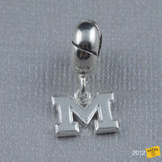 Dayna U University of Michigan Sterling Silver Charm Bead