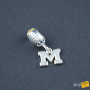 Dayna U University of Michigan Football Sterling Silver Charm Bead