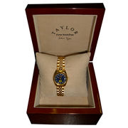 Taylor University of Michigan Ladies Gold Tone Wristwatch