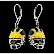 Beliza Design University of Michigan Football Stainless Steel Helmet Earrings