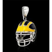 Beliza University of Michigan Football Stainless Steel Helmet Pendant