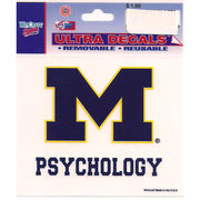 Wincraft University of Michigan Psychology Decal - 3x 3.75