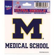 Wincraft University of Michigan Medical School Decal - 3 x 3.75