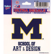 Wincraft University of Michigan School of Art & Design Decal- 3 x 3.75