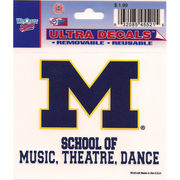 Wincraft University of Michigan School of Music, Theatre, and Dance Decal