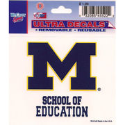 Wincraft University of Michigan School of Education Decal- 3 x 3.75