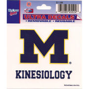 Wincraft University of Michigan Kinesiology Decal- 3 x 3.75