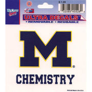 Wincraft University of Michigan Chemistry Decal- 3 x 3.75