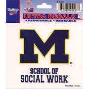 Wincraft University of Michigan School of Social Work Decal- 3 x 3.75