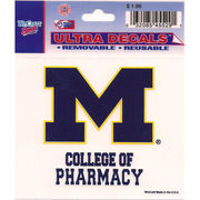 Wincraft University of Michigan College of Pharmacy Decal- 3 x 3.75