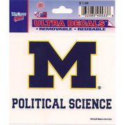 Wincraft University of Michigan Political Science Decal- 3 x 3.75