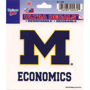 Wincraft University of Michigan Economics Decal- 3 x 3.75