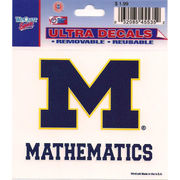 Wincraft University of Michigan Mathematics Decal- 3 x 3.75