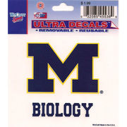 Wincraft University of Michigan Biology Decal- 3 x 3.75