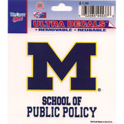 Wincraft University of Michigan School of Public Policy Decal- 3 x 3.75