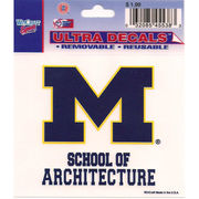Wincraft University of Michigan School of Architecture Decal- 3 x 3.75