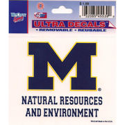 Wincraft University of Michigan Natural Resources & Environment Decal