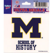 Wincraft University of Michigan School of History Decal- 3 x 3.75