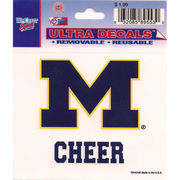 Wincraft Michigan Wolverines Cheer Decal - 3 x 3.75