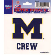 Wincraft Michigan Wolverines Crew Decal - 3 x 3.75