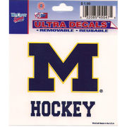 Wincraft Michigan Wolverines Hockey Decal - 3 x 3.75