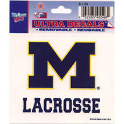 Wincraft Michigan Wolverines Lacrosse Decal- 3 x 3.75