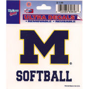 Wincraft Michigan Wolverines Softball Decal- 3 x 3.75
