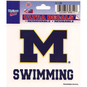 Wincraft Michigan Wolverines Swimming Decal- 3 x 3.75