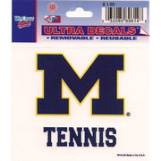 Wincraft Michigan Wolverines Tennis Decal- 3 x 3.75