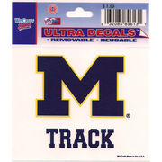 Wincraft Michigan Wolverines Track Decal- 3 x 3.75